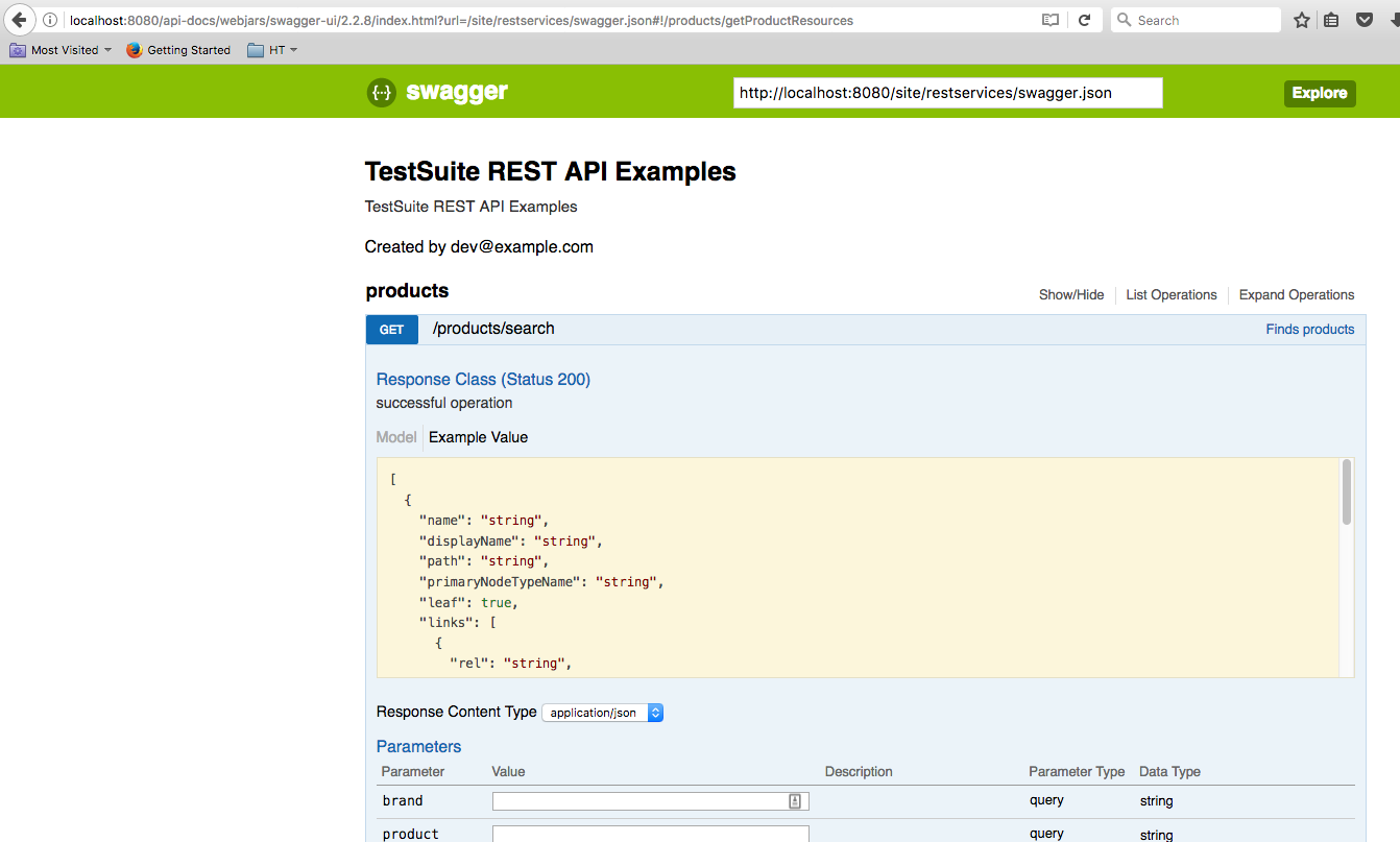 HSTTWO-4103] Built-in Swagger API descriptor support on