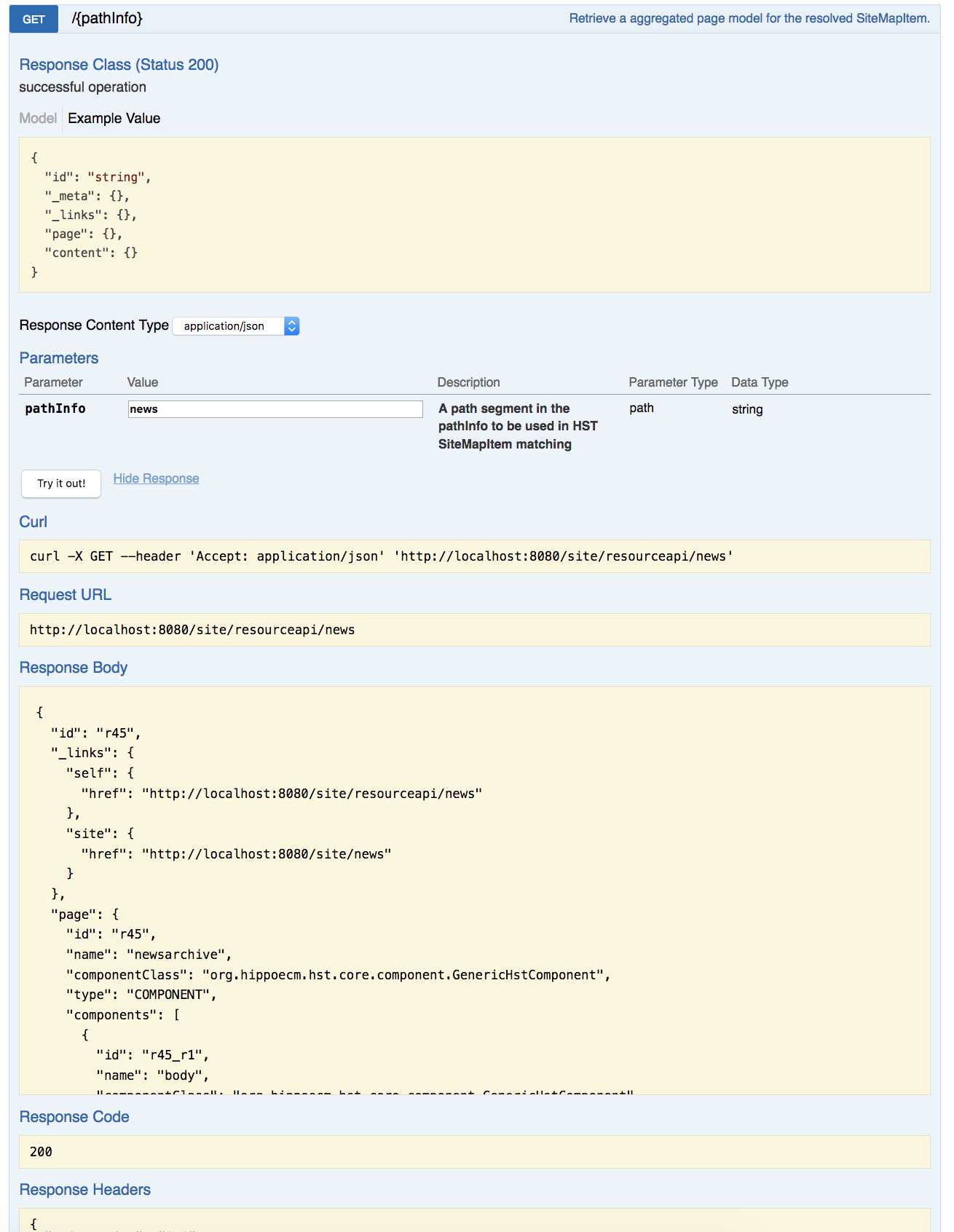 HSTTWO-4316] [SPA++] Provide built-in Swagger API Document for Page